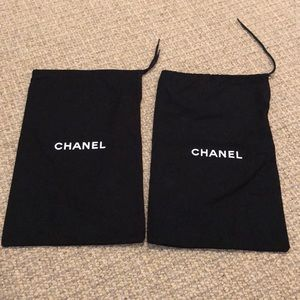 2  Authentic Chanel Dust Covers